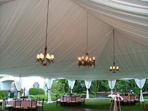Pleated-tent-liner